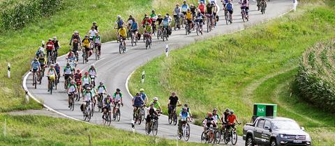 Radlergruppe bei der hr4-Radtour 2017
