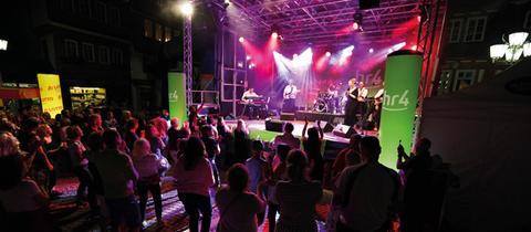 """""""Welcome Party"""" bei der hr4-Radtour"""