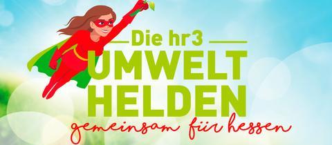 """Logo der Aktion """"hr3-Umwelthelden - Gemeinsam für Hessen"""""""