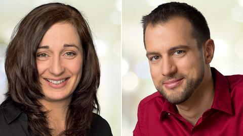 hr4-Moderatorin Inka Gluschke und hr4-Moderator Jürgen Scholle
