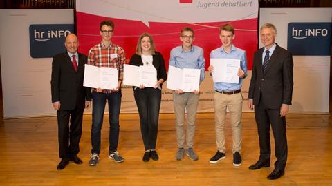 Jugend debattiert 2018 Sieger-Gruppenfoto