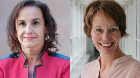Heike Borufka (links) und Petra Boberg gewinnen den Deutschen Sozialpreis 2019