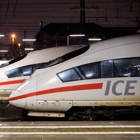 ICEs der Deutschen Bahn