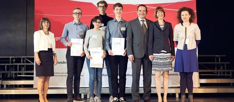 Gruppenbild Sieger Jugend debattiert 2019