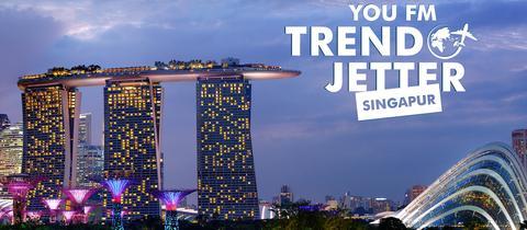 """Aktionslogo """"YOU FM - Trendjetter - erlebt Singapur"""""""