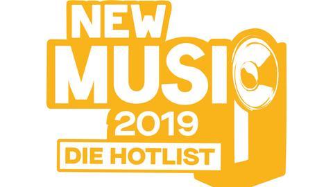 """Logo """"New Music 2019 - Die Hotlist"""""""