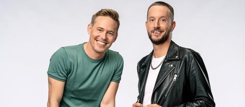 """Timo Killer (li.) und Benne Schröder sind die Hosts der """"YOU FM Good Morningshow"""""""