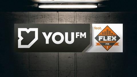 YOU FM featuring Flex FM Logo