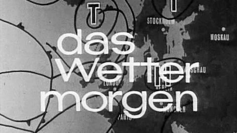 Erste Tagesschau-Wetterkarte von 1960