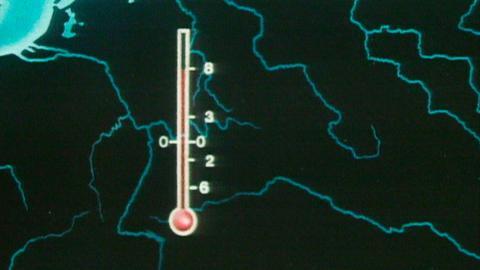Tagesschau-Wetterkarte in den 1970er Jahren