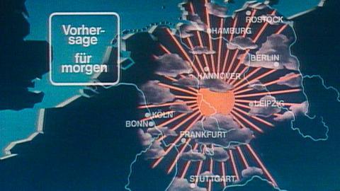 Tagesschau-Wetterkarte in den 1980er Jahren