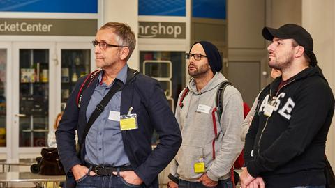 Besuchergruppe in Frankfurt