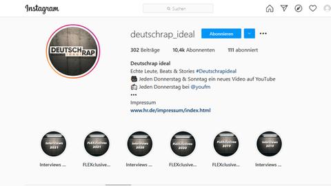 Screenshot Deutschrap ideal Instagram