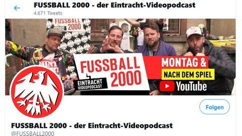 Die Seite von Fußball 2000 bei Twitter