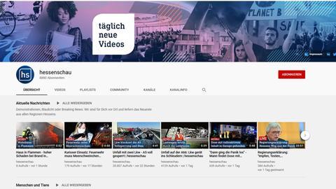 Die hessenschau-YouTube-Seite