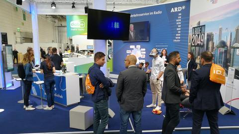 ARD-Messestand auf der IAA 2019 in Frankfurt.