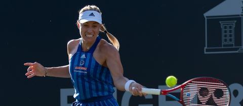 Angelique Kerber beim angestrengten Tennisspiel
