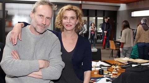 Wolfram Koch und Margarita Broich in ihrem alten Büro im ehemaligen Neckermann-Gebäude.