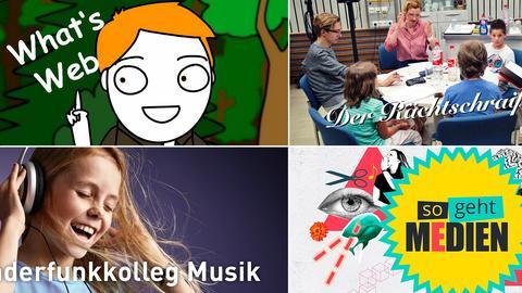 Collage hr-Angebote für Kinder und Jugendliche