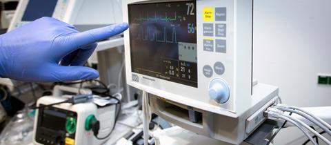 Monitor eines medizinischen Messgeräts