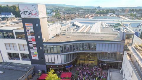 """Shoppingpassage """"WERKStadt"""": Luftaufnahme"""