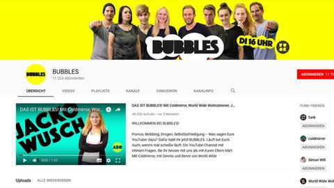 "Der Youtube-Kanal von ""Bubbles"": Screenshot"