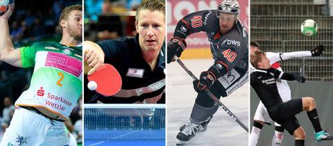 Bildcollage mehrerer Sportler
