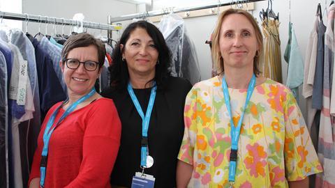 Silke Wetzel, Sanda Bonrad und Ilse Hammerschmidt