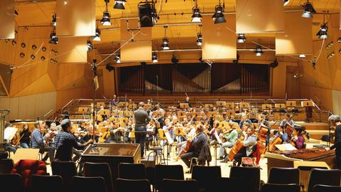 Das hr-Sinfonieorchester im hr-Sendesaal