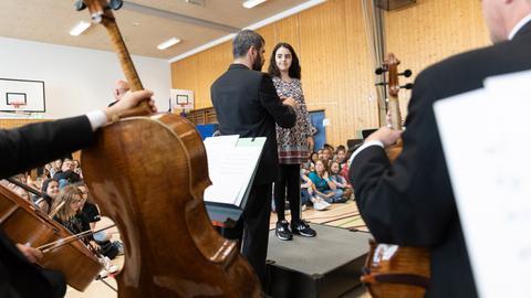 Numidia auf dem Dirigentenpodest