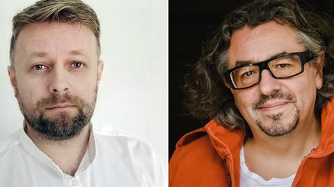 hr3-Redakteur Thomas Huft (li.) und Hörspiel-Regisseur Leonhard Koppelmann.