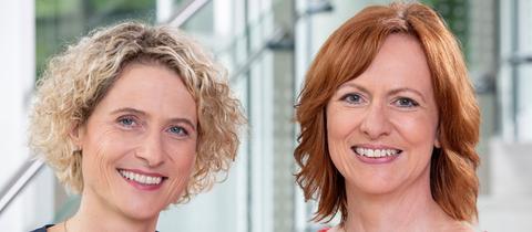 Moderieren das TV-Duell: Kristin Gesang (li.) und Ute Wellstein