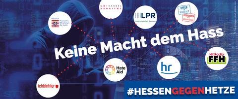 Das Logo der Aktion #KeineMachtDemHass