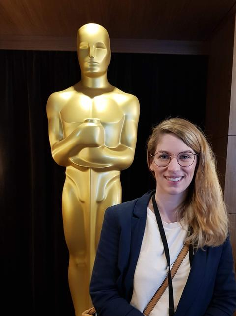 ARD-Korrespondentin Katharina Wilhelm bei der Oscar-Verleihung