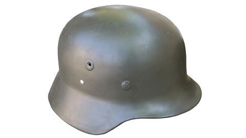 Deutscher Soldatenhelm aus dem Zweiten Weltkrieg