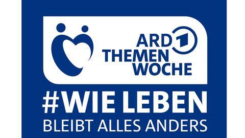 Logo, Schrift auf Blau: ARD-Themenwoche 2020, #BLEIBT ALLES ANDERS