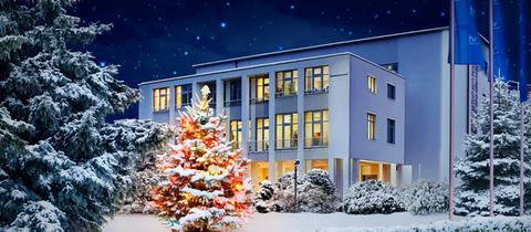 Funkhaus im Schnee