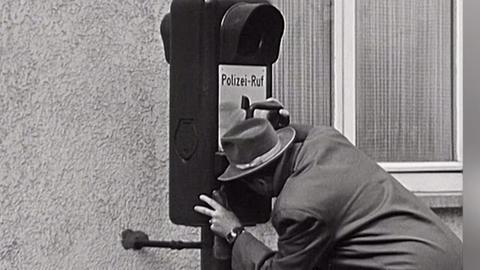 Notrufsäulen in Wiesbaden 1958