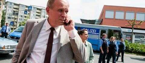 Bild zeigt LKA-Ermittler Felix Murot (Ulrich Tukur, li.) und seine Kollegin Magda Wächter (Barbara Philipp)