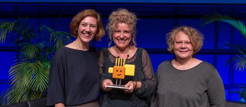 Preisverleihung Karlsruhe 2019 Cordula Huth, Gudrun Hartmann, Stefanie Hatz