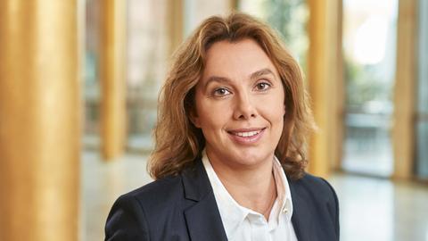 Die Leiterin des hr-Teams ARD-aktuell: Sandra Tzschaschel