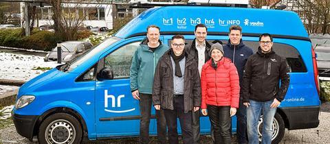 """Schnellreportagewagen """"ECTO 1"""" mit Team"""