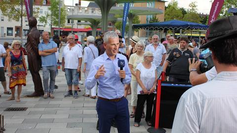 Andreas Hieke  auf der Hessenschau-Sommertour.