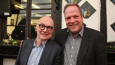 Thomas Koschwitz (links) und hr1-Chef Martin Lauer