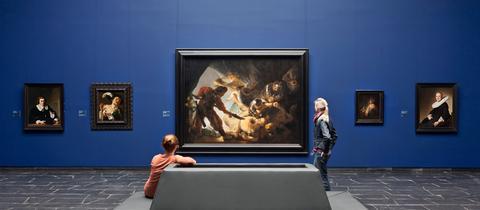 Besucher im Städel / Sammlunsbereich Alte Meister