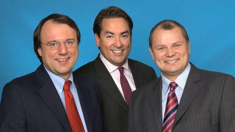 Frank Freiberger, Frank Böhm, Thomas Hütsch (von links)