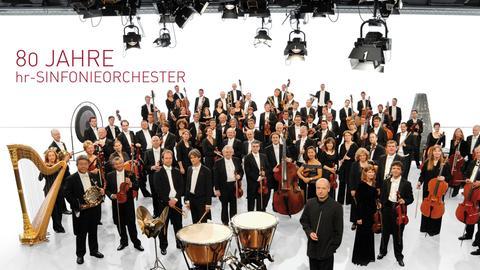 Plakat zum 80. Jubiläum des Sinfonieorchesters