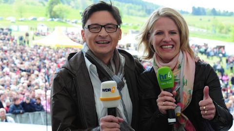 Stefan Verhasselt (WDR4) und Britta Lohmann (hr4)