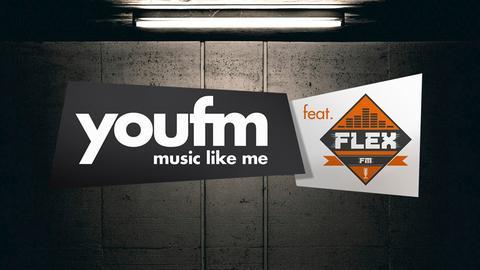 "Logo der Show ""YOU FM featuring FLEX FM""."