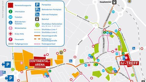 Lageplan Anfahrt Hessentag Korbach